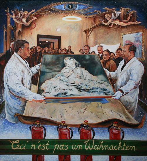 """""""Lasst uns froho uhunt munter sein"""" (ceci n'est pas un Weihnachten), Gerhard Richter Tante Marianne, Dresden Museum, Dürer Paumgartner Altar, Engel Caravaggio"""